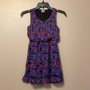 Disney Blue Floral Dress, 7-8